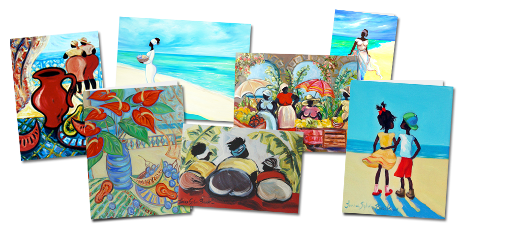 Buy caribbean fine art greetings cards janice sylvia brock caribbean art by janice sylvia brock m4hsunfo Images